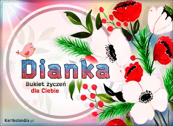Bukiet życzeń dla Dianki