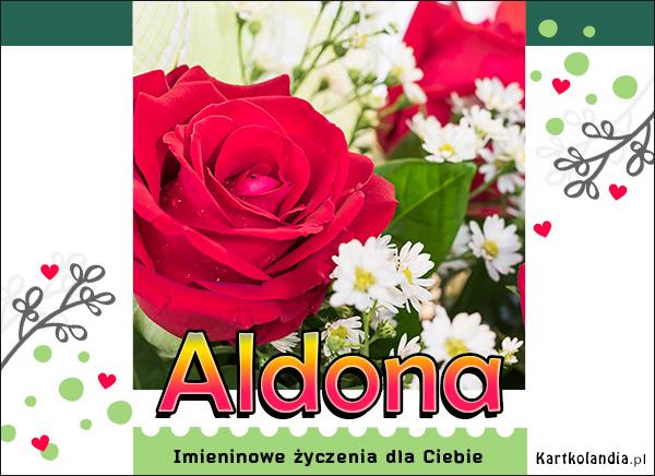 Imieninowe róże dla Aldony