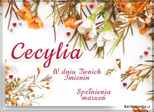 Imieniny Cecylii - Usłane kwiatami