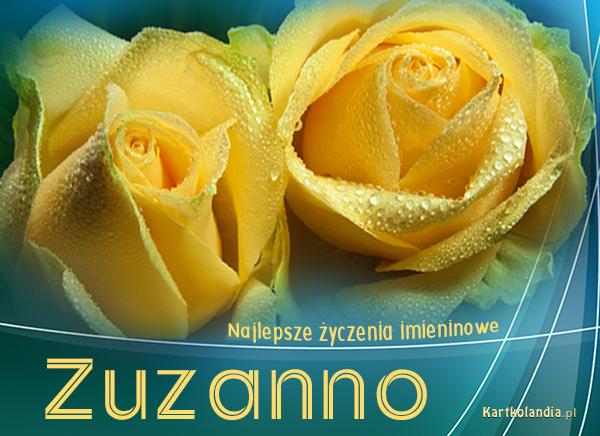 Kartka imieninowa dla Zuzanny