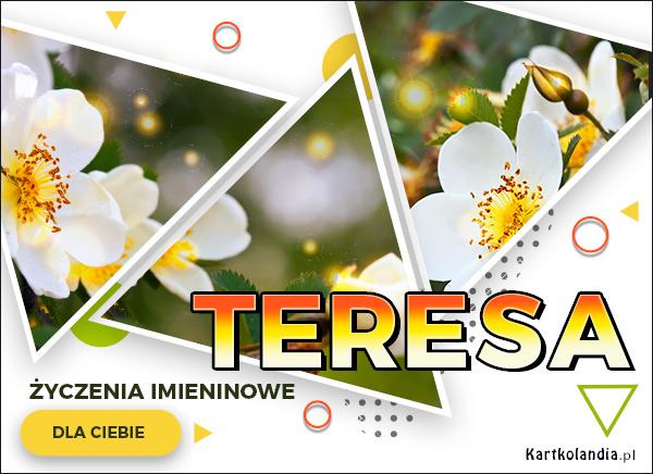 eKartki   Kartka z kwiatami dla Teresy,