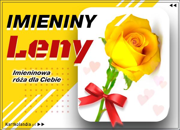 eKartki elektroniczne z tagiem: Lenka Lena - Imieninowa róża dla Ciebie,