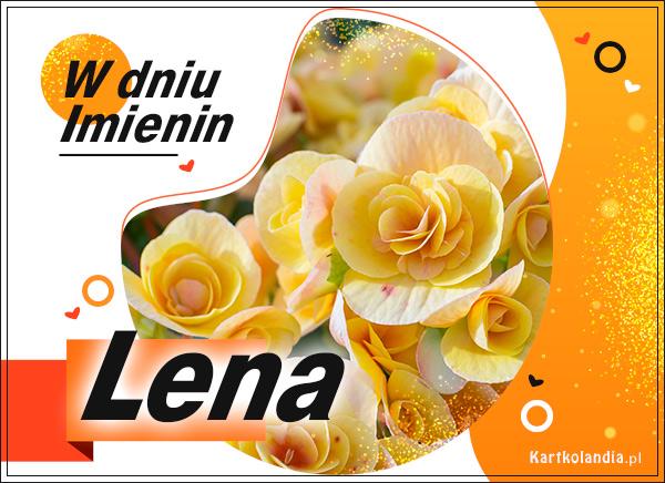 eKartki elektroniczne z tagiem: Lenka Lena - W dniu Imienin...,