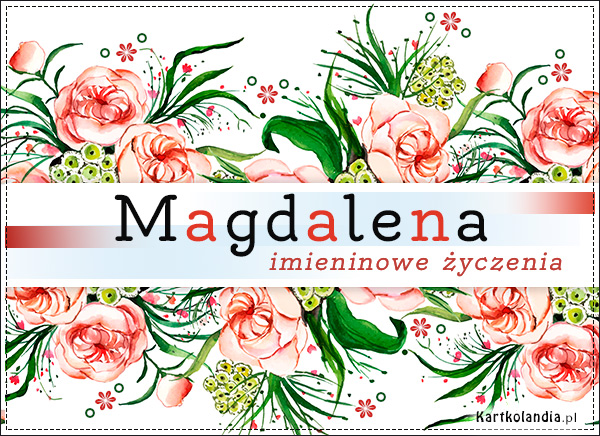 eKartki elektroniczne z tagiem: Lenka Magdalena - Kwiaty na Imieniny,