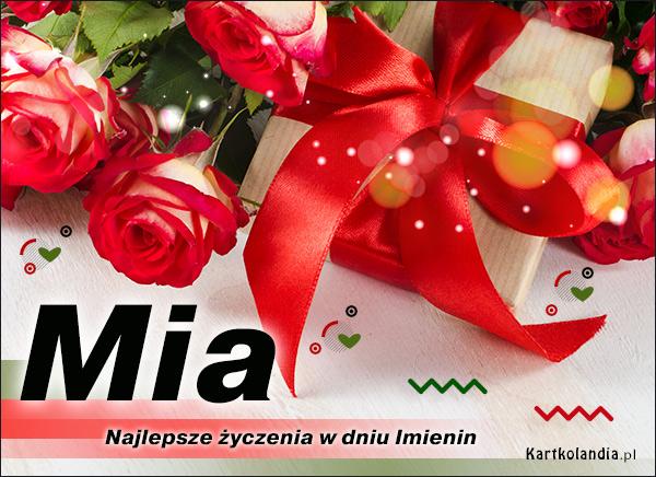 Mia - Kartka Imieninowa