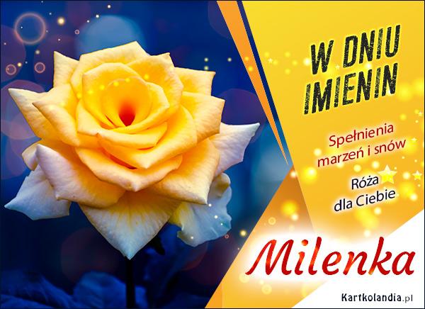 eKartki elektroniczne z tagiem: Lenka Milenka - Imieninowa róża dla Ciebie,
