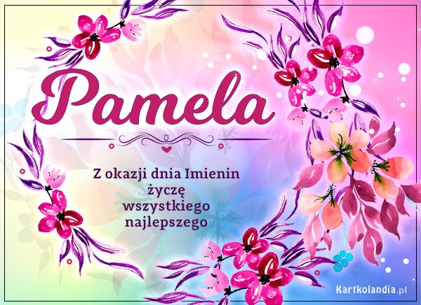eKartki elektroniczne z tagiem: Amelcia Pamela - Kartka na Imieniny,
