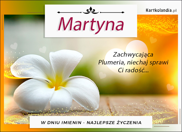 Solenizantka Martyna
