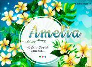 eKartki elektroniczne z tagiem: e-Kartka na imieniny Amelia - Tropikalne Imieniny,