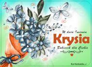 eKartki Imienne Damskie Bukiecik kwiatów dla Krysi,