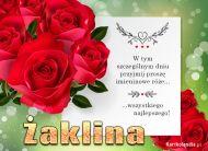 eKartki Imienne Damskie Bukiet róż dla Żakliny,