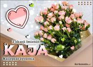 eKartki Imienne Damskie Bukiet róż dla Kai,