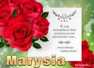 eKartki Imienne Damskie Bukiet róż dla Marysi,