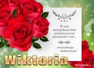 eKartki elektroniczne z tagiem: e-Kartka na imieniny Bukiet róż dla Wiktorii,