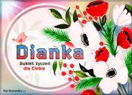 eKartki Imienne Damskie Bukiet życzeń dla Dianki,