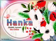 eKartki Imienne Damskie Bukiet życzeń dla Hanki,