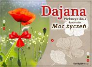 eKartki Imienne Damskie Dajana - Moc Życzeń,