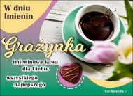 eKartki Imienne Damskie Grażynka - Kawa na Imieniny,