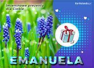 eKartki Imienne Damskie Imieninowe prezenty dla Emanueli,
