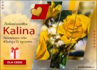eKartki Imienne Damskie Imieninowe róże dla Kaliny,