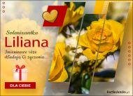 eKartki Imienne Damskie Imieninowe róże dla Liliany,