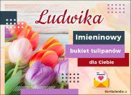 eKartki Imienne Damskie Imieninowy bukiet dla Ludwiki,