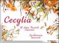 eKartki Imienne Damskie Imieniny Cecylii - Usłane kwiatami,