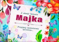 eKartki Imienne Damskie Imieniny Majki - Usłane kwiatami,