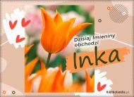 eKartki Imienne damskie Inka - Kartka Imieninowa,