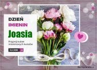 eKartki Imienne Damskie Joasia - Przyjmij kwiaty,