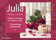 eKartki Imienne Damskie Julia - Róże na Imieniny,