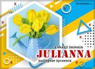 eKartki Imienne Damskie Julianna - Imieninowy bukiet tulipanów,