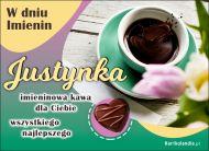 eKartki Imienne Damskie Justynka - Kawa na Imieniny,