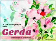eKartki elektroniczne z tagiem: Kartka na imieniny Kartka z imieniem Gerda,