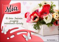 eKartki Imienne Damskie Kartka z kwiatami dla Mii,