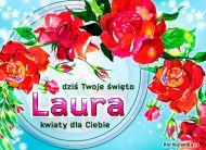 eKartki elektroniczne z tagiem: e-Kartka na imieniny Laura - Dziś Twoje święto!,