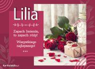 eKartki Imienne Damskie Lilia - Róże na Imieniny,