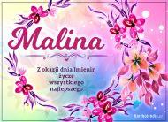 eKartki Imienne Damskie Malina - Kartka na Imieniny,