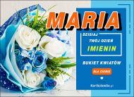 eKartki Imienne Damskie Maria - Bukiet Kwiatów,