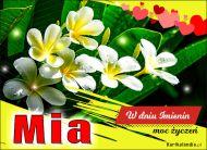 eKartki elektroniczne z tagiem: e-Kartka na imieniny Mia - Życzenia dla Ciebie,