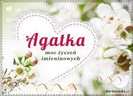 eKartki Imienne Damskie Moc Życzeń dla Agatki,
