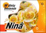eKartki Imienne Damskie Nina - W dniu Imienin...,