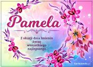 eKartki elektroniczne z tagiem: e-Kartka na imieniny Pamela - Kartka na Imieniny,
