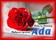 eKartki Imienne Damskie Róża na Imieniny dla Ady,