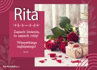 eKartki Imienne Damskie Rita - Róże na Imieniny,