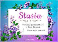 eKartki Imienne Damskie Stasia - Przyjmij życzenia!,