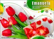 eKartki Imienne Damskie Tulipany dla Emanueli,