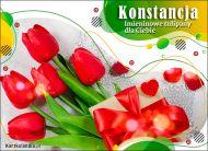 eKartki Imienne Damskie Tulipany dla Konstancji,