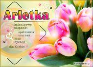 eKartki Imienne Damskie Tulipany z życzeniami dla Arletki,