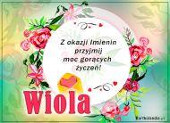 eKartki Imienne Damskie Wiola - Moc gorących życzeń!,